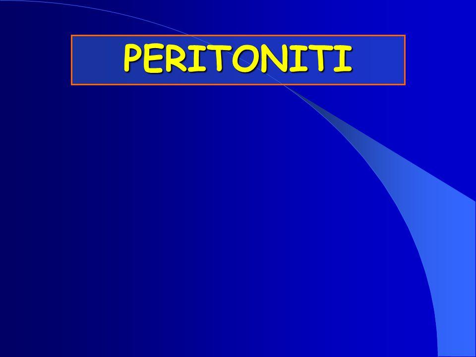 PERITONEO Membrana sierosa della cavità addomino-pelvica Pur essendo una lamina continua può essere distinguibile in 2 parti Peritoniti PARIETALE PARIETALE Adeso alla parete della cavità addomino-pelvica VISCERALE VISCERALE Proviene dal peritoneo parietale, riveste i diversi organi accolti nella cavità peritoneale (organi intraperitoneali)