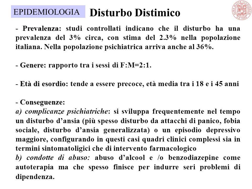 Prevalenza - Prevalenza: prevalenza mondiale variabile dal 5% al 25%: nella popolazione italiana tali valori sono del 5,2% Distribuzione per Sesso - D
