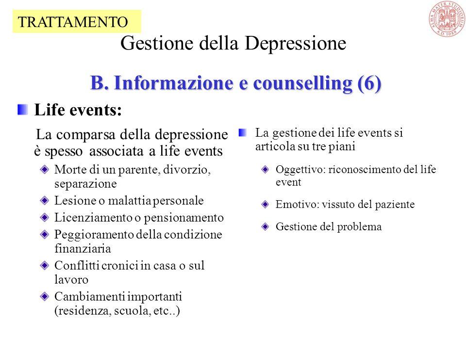Sintomi fisici: Discutere la correlazione tra eventuali sintomi fisici e depressione Sintomi fisici parte del quadro clinico Sintomi fisici come causa