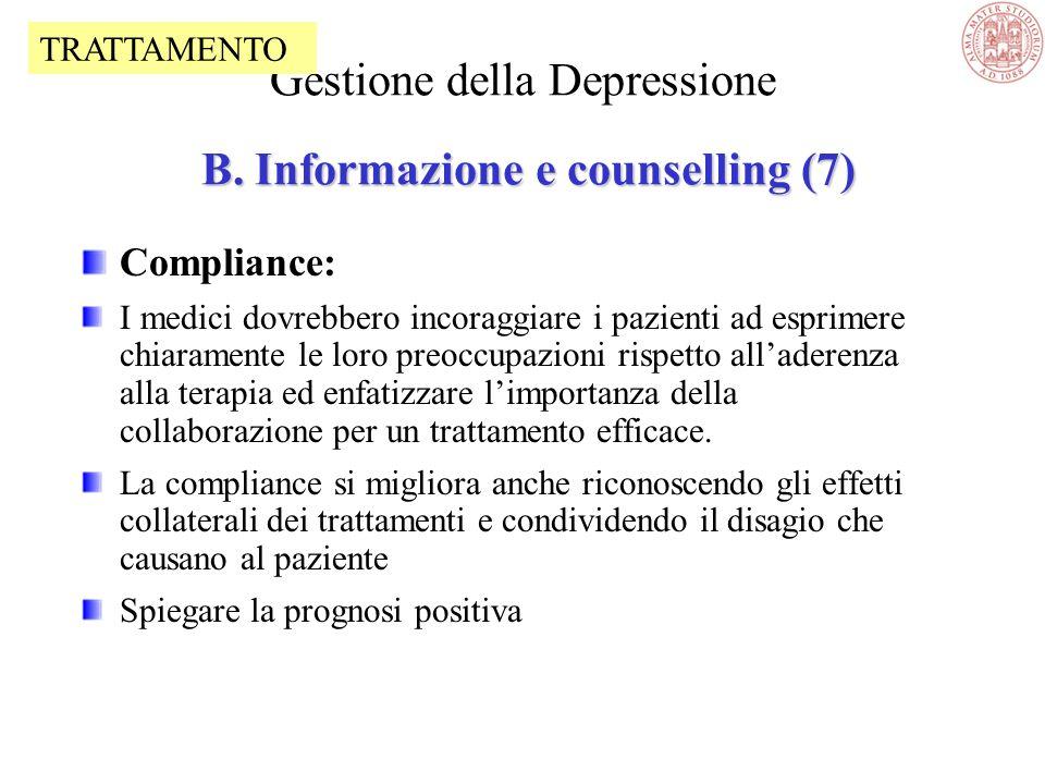 Life events: La comparsa della depressione è spesso associata a life events Morte di un parente, divorzio, separazione Lesione o malattia personale Li