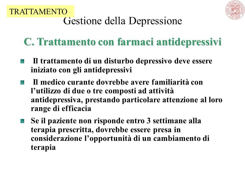 B. Informazione e counselling (8) Gestione della Depressione B. Informazione e counselling (8) Riguardo alla natura della malattia e allassunzione del
