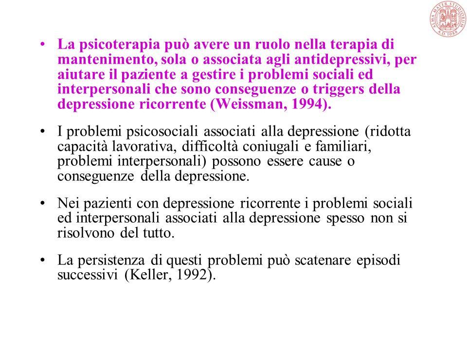 Psicoterapie psicodinamiche e psicoanalisi Originano dalla concettualizzazione della psicodinamica della depressione di Freud, che attribuisce importa