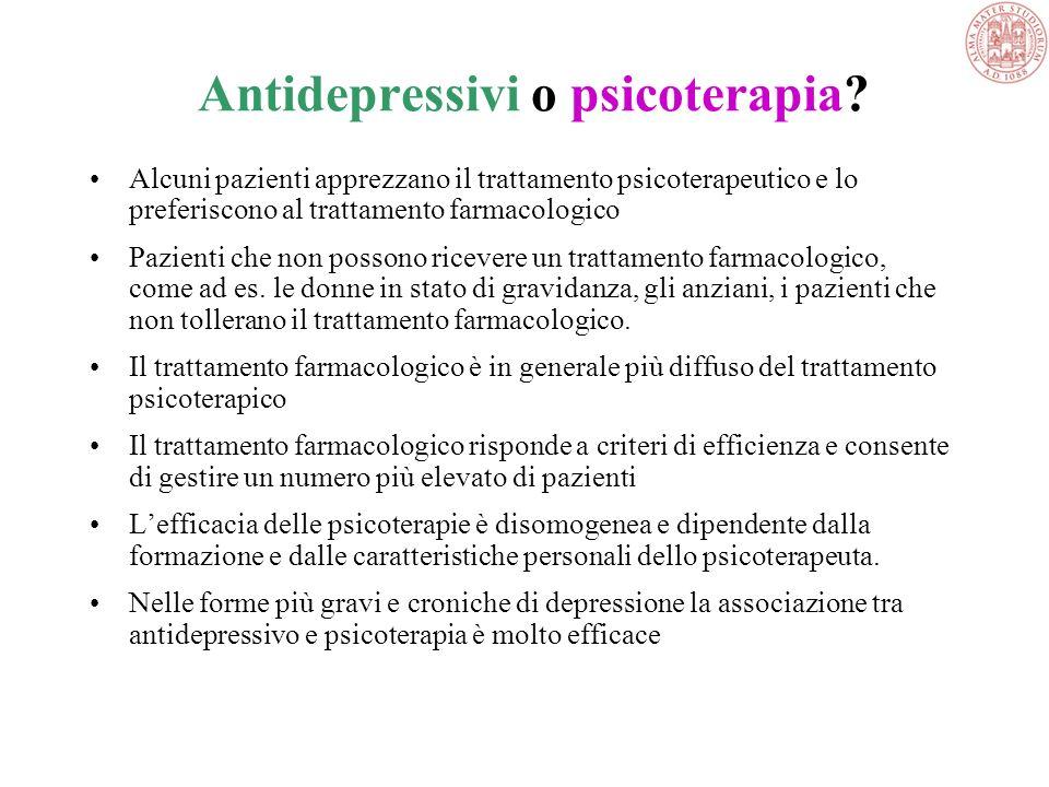 La psicoterapia può avere un ruolo nella terapia di mantenimento, sola o associata agli antidepressivi, per aiutare il paziente a gestire i problemi s