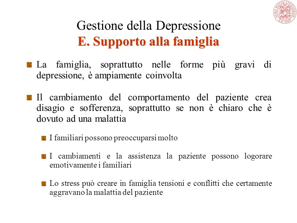 Ruolo dellesercizio fisico British Journal of Psychiatry 2002 Mather AS et al. Effect of exercise on depressive symptoms in older adults with poorly r