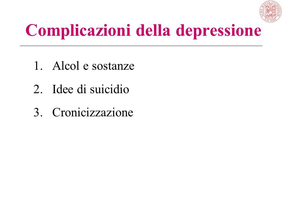 Depressione nella medicina generale 1/20 visite per depressione >100 pazienti depressi in carico a ciascun MMG, la metà non riconosciuti come depressi