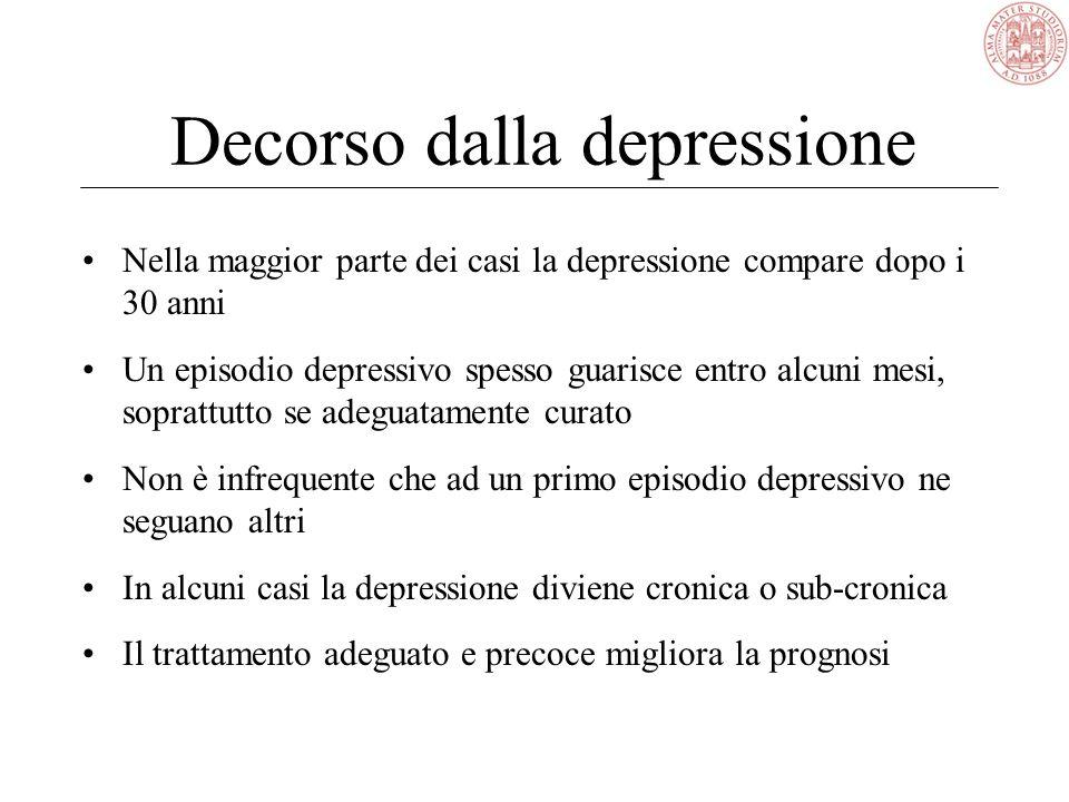 2. Depressione e suicidalità Le idee di morte sono intrinseche alla psicopatologia depressiva, caratterizzata da temi di colpa, indegnità, rovina. Le