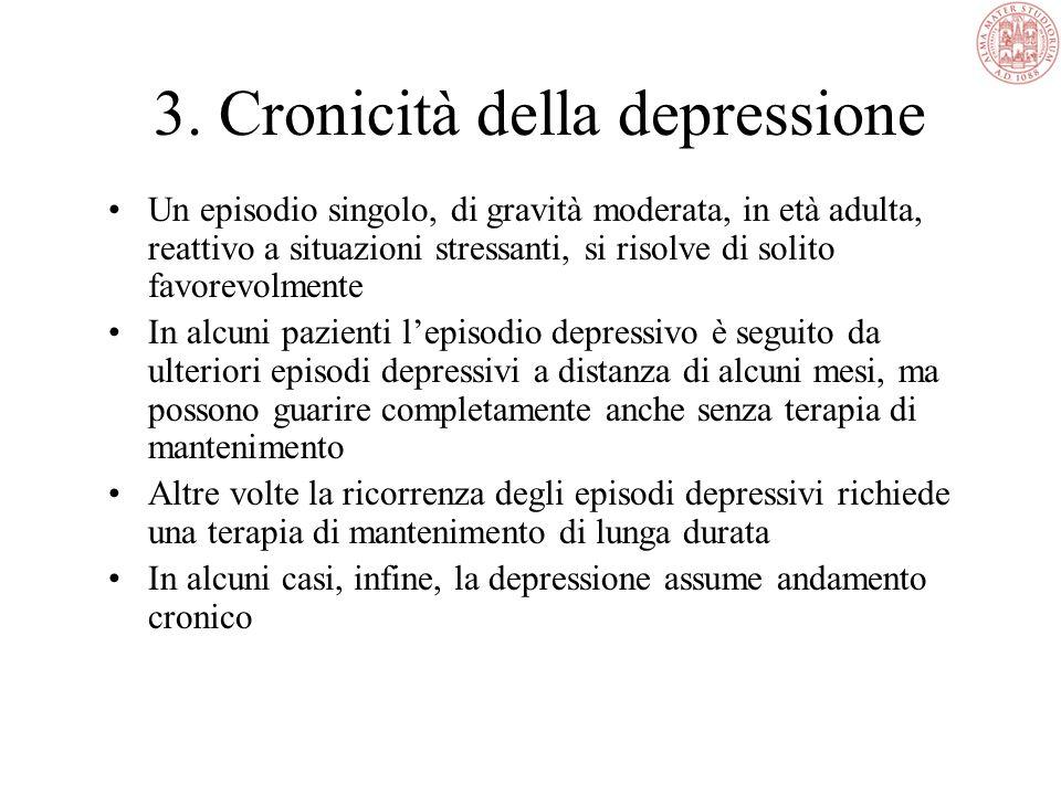 Decorso dalla depressione Nella maggior parte dei casi la depressione compare dopo i 30 anni Un episodio depressivo spesso guarisce entro alcuni mesi,