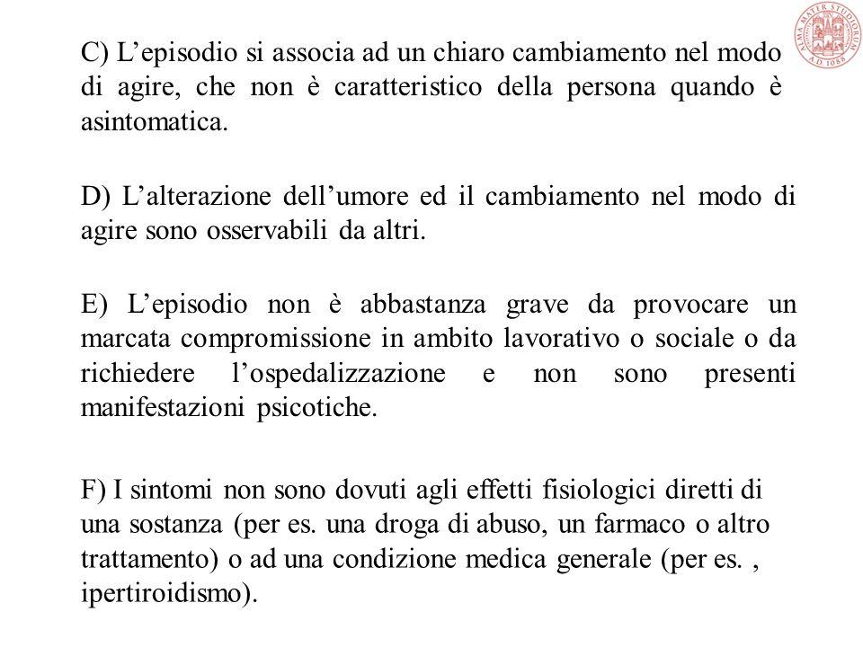 5. Distraibilità (cioè lattenzione è troppo facilmente deviata da stimoli esterni non importanti o non pertinenti 6. Aumento dellattività finalizzata