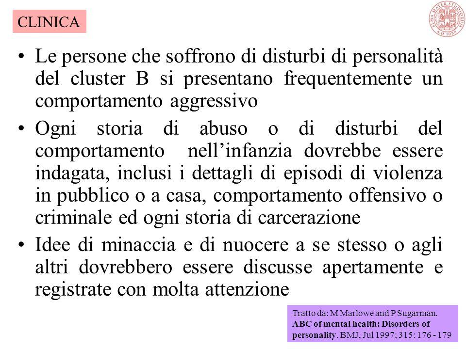 È importante differenziare... I disturbi di personalità del cluster A dalle malattie psichiatriche psicotiche Ed i disturbi di personalità del cluster