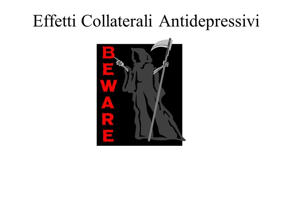 INIBITORI MONOAMINOSSIDASIPhenelzinaNardil15-90 TranylcyprominaParnate30-60 TRIAZOLOPIRIDINETrazodoneTrittico150-600 NefazodoneReseril100-600 AMINOCHE