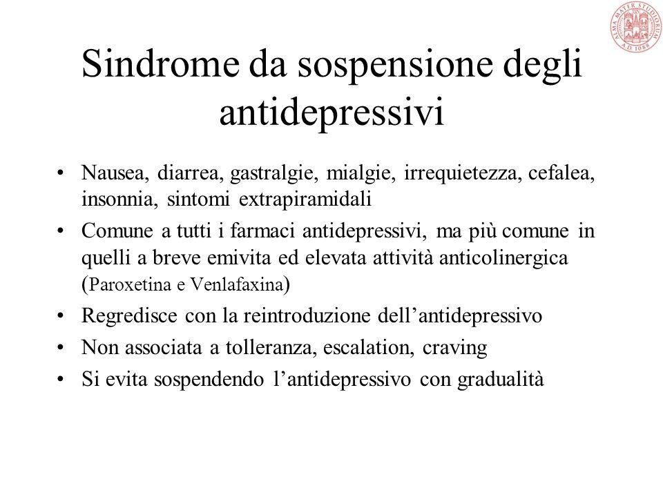 Sindrome Serotoninergica Stato di tossicità iperserotoninergica Confusione Rigidità, Tremori Terapia di Supporto
