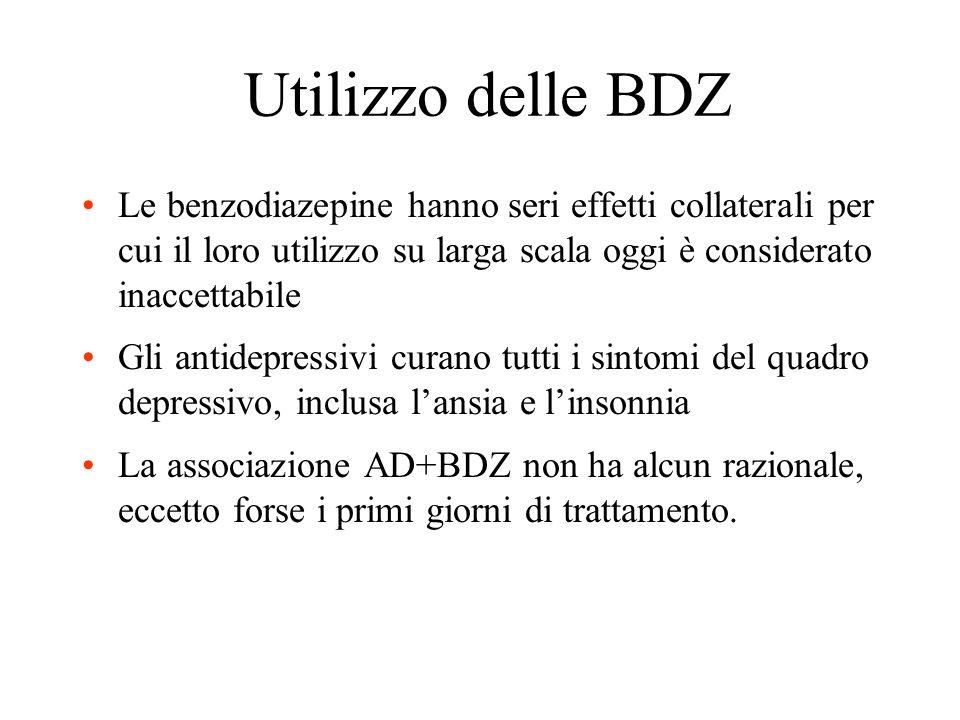Benzodiazepine Appartengono a questo gruppo i farmaci (tranquillanti ed ipnotici) efficaci nel trattamento dei disturbi dansia. Questi farmaci, di sol