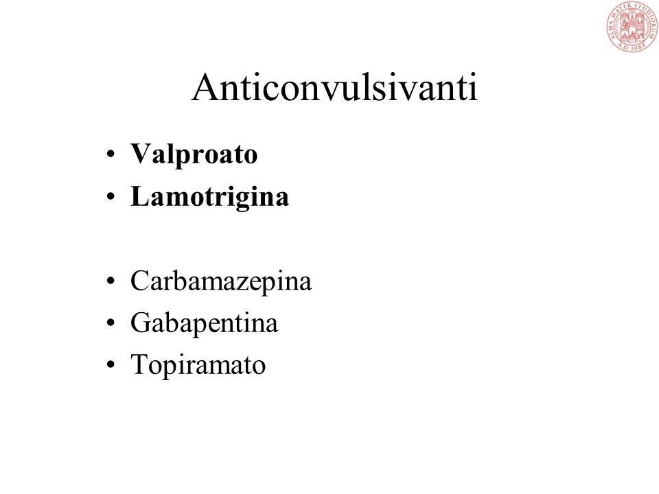 Anticonvulsivanti Valproato Lamotrigina Carbamazepina Gabapentina Topiramato
