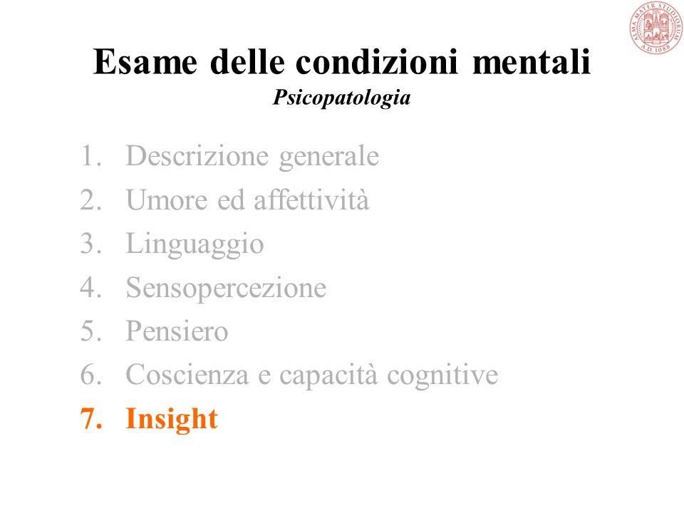 Altre capacità cognitive Capacità visuospaziali Pensiero astratto