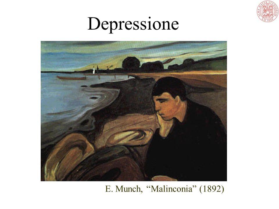 Disturbi dellumore Depressione unipolare Comune 10% pop, F:M=2:1 Solo episodi depressivi Patologia ricorrente Prognosi buona, specie forme non cronici