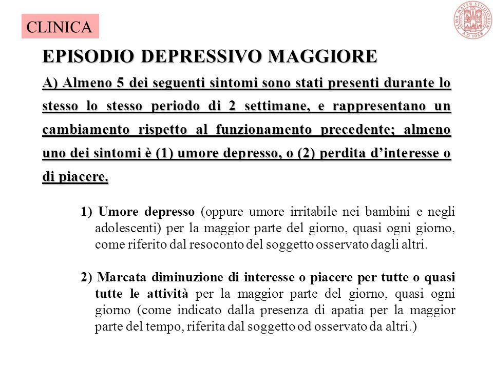 Continuum depressivo Non casi sottosogliadepressione CLINICA