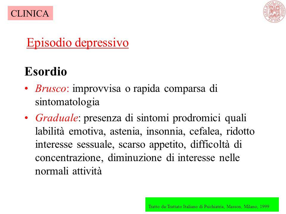 Core sintomatologico (sintomi fondamentali) Psicopatologia 1.Descrizione generale 2.Umore ed affettività 3.Linguaggio 4.Sensopercezione 5.Pensiero 6.C