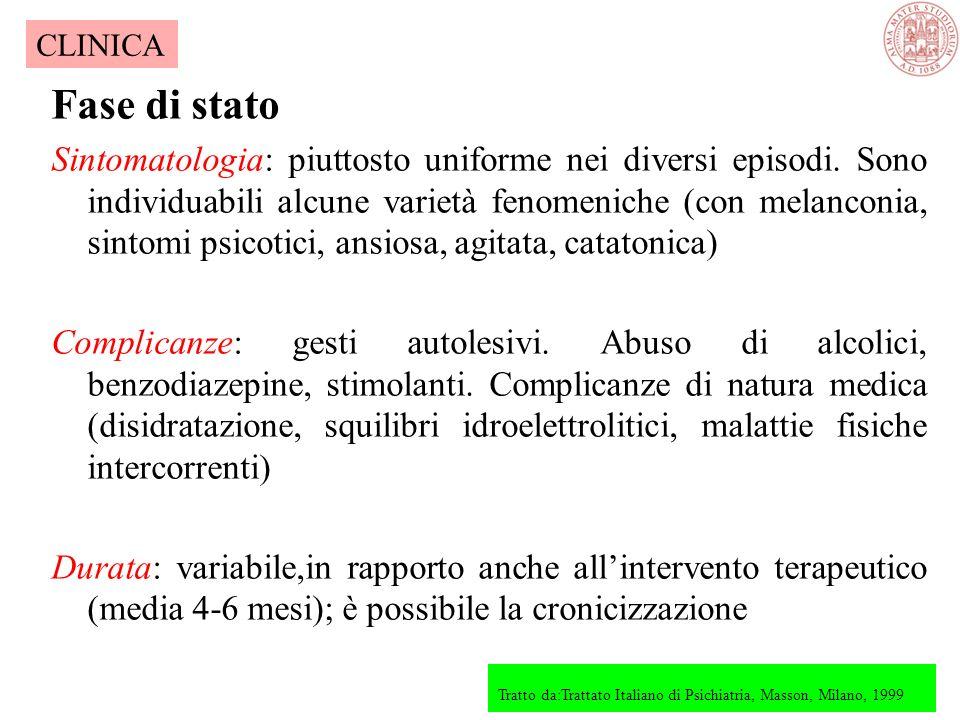 Esordio Brusco: improvvisa o rapida comparsa di sintomatologia Graduale: presenza di sintomi prodromici quali labilità emotiva, astenia, insonnia, cef