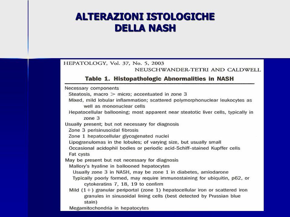 ALTERAZIONI ISTOLOGICHE DELLA NASH