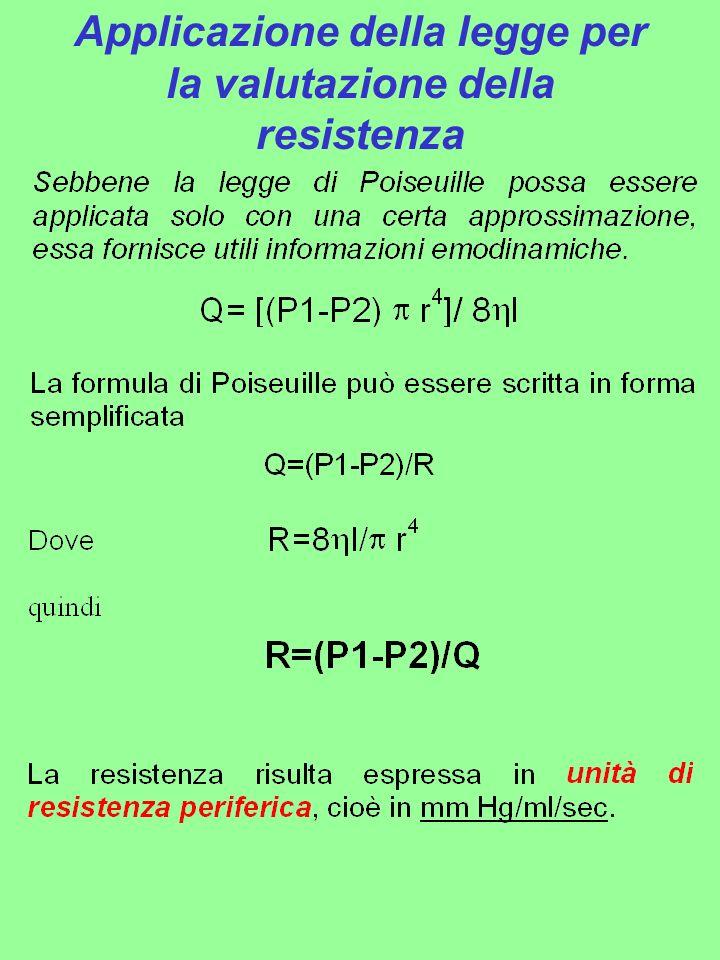 Applicazione della legge per la valutazione della resistenza