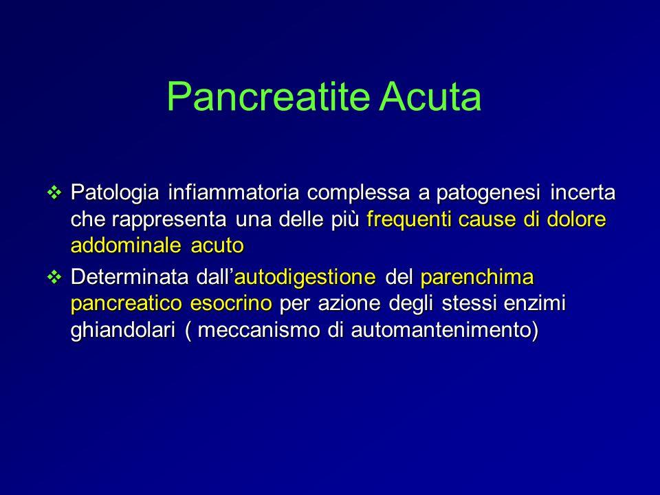 Patologia infiammatoria complessa a patogenesi incerta che rappresenta una delle più frequenti cause di dolore addominale acuto Patologia infiammatori