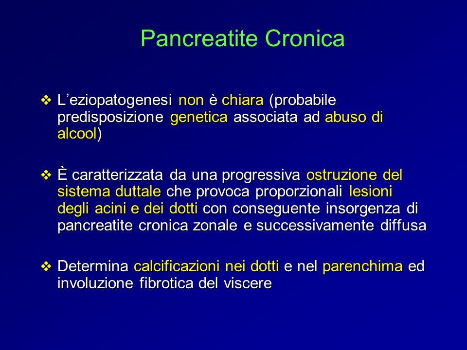 Leziopatogenesi non è chiara (probabile predisposizione genetica associata ad abuso di alcool) Leziopatogenesi non è chiara (probabile predisposizione