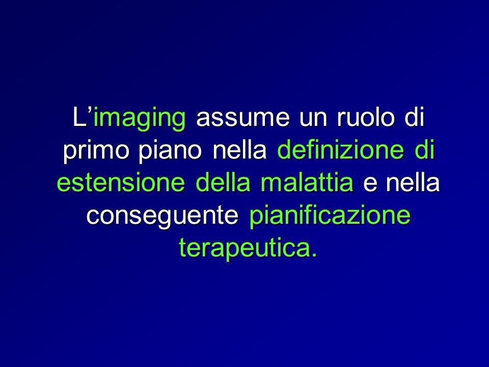 Limaging assume un ruolo di primo piano nella definizione di estensione della malattia e nella conseguente pianificazione terapeutica.