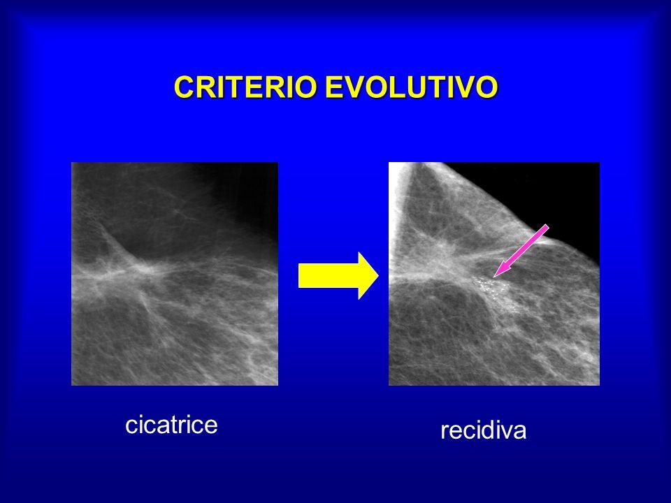 CRITERIO EVOLUTIVO cicatrice recidiva