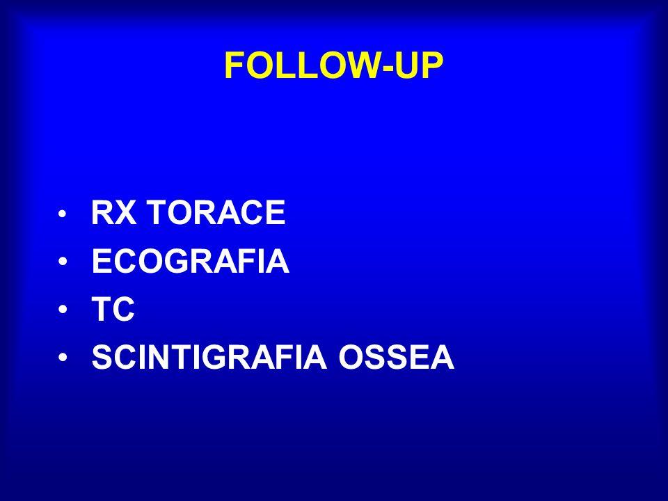 FOLLOW-UP RX TORACE ECOGRAFIA TC SCINTIGRAFIA OSSEA