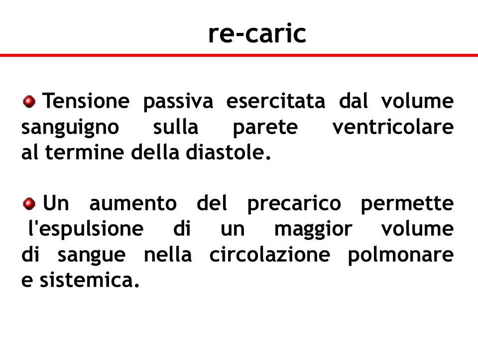 Tensione passiva esercitata dal volume sanguigno sulla parete ventricolare al termine della diastole. Un aumento del precarico permette l'espulsione d