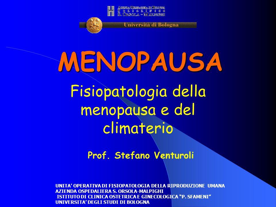 MENOPAUSA Fisiopatologia della menopausa e del climaterio Prof. Stefano Venturoli UNITA OPERATIVA DI FISIOPATOLOGIA DELLA RIPRODUZIONE UMANA AZIENDA O