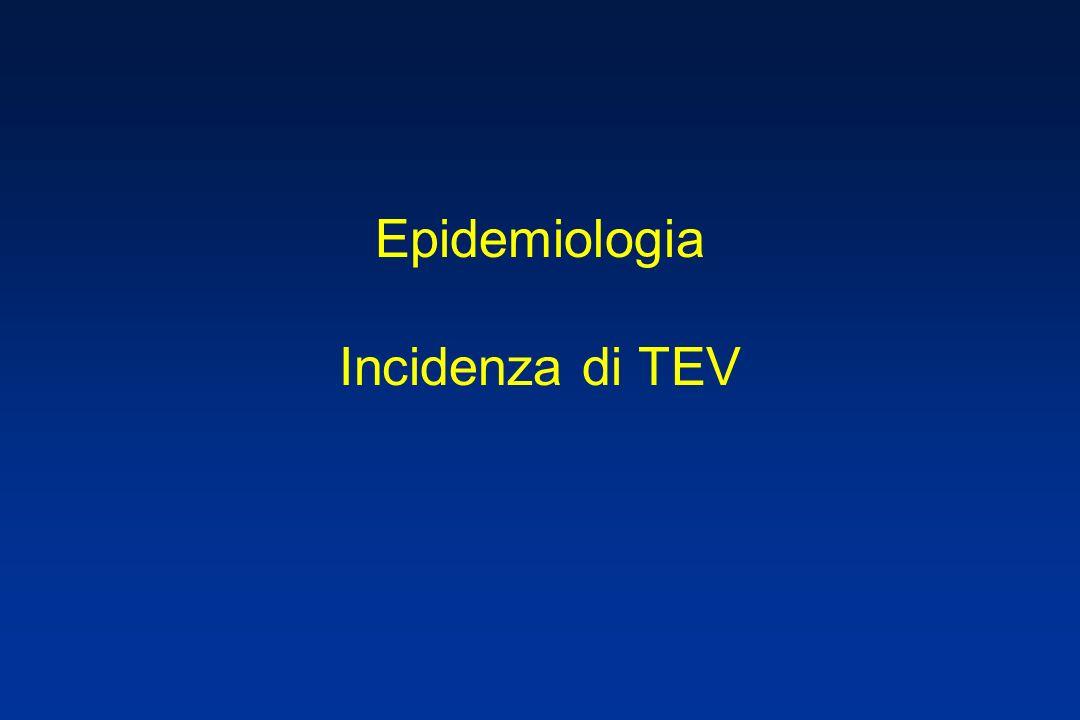 Epidemiologia Incidenza di TEV