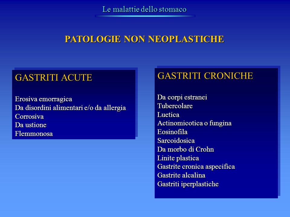 Tumori dello stomaco CANCRO GASTRICO Classificazione macroscopica di BORMANN Tipo III – escavato Fig 33.29 colombo Tipo II – ulcerato Tipo I – polipoide Tipo IV – diffuso (linite plastica)
