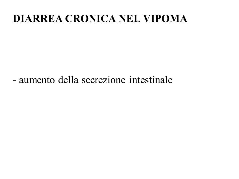 DIARREA CRONICA NEL VIPOMA - aumento della secrezione intestinale