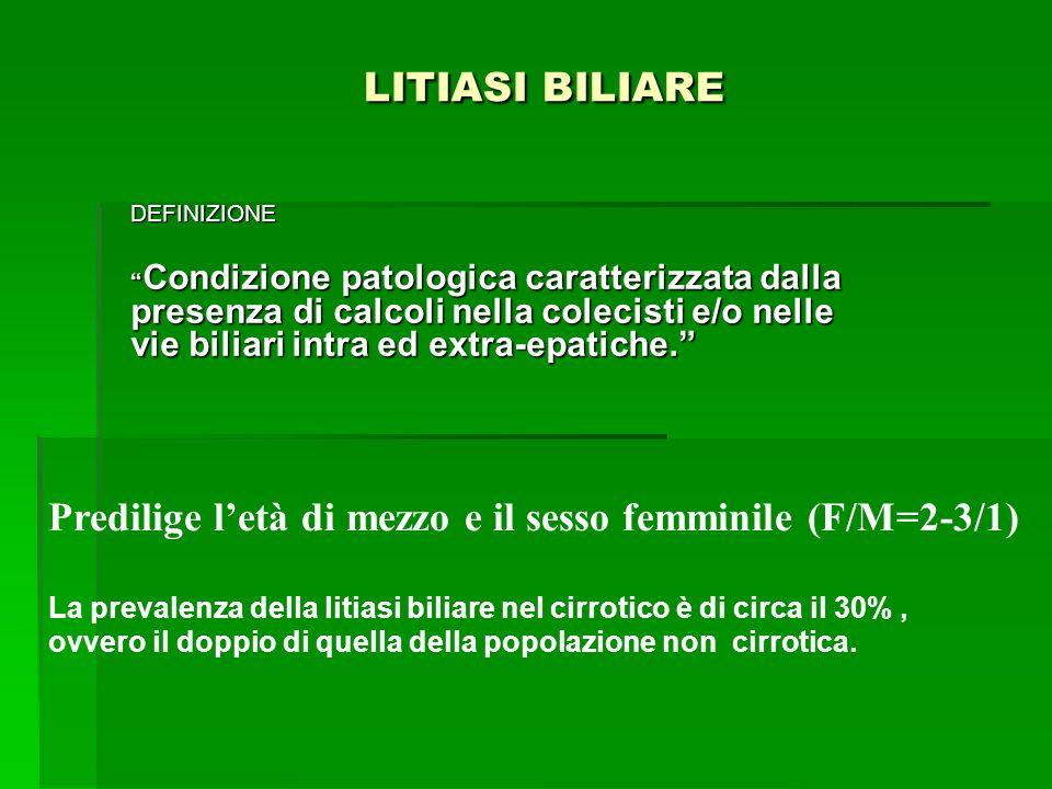 LITIASI BILIARE LITIASI BILIARE DEFINIZIONE Condizione patologica caratterizzata dalla presenza di calcoli nella colecisti e/o nelle vie biliari intra
