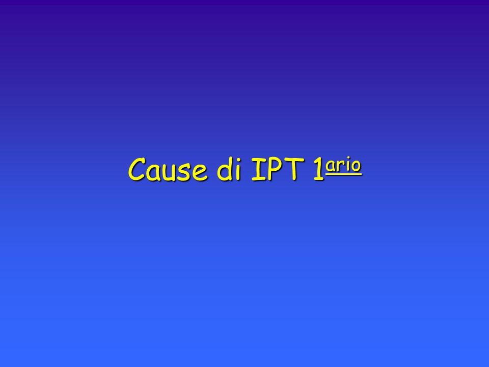 Cause di IPT 1 ario