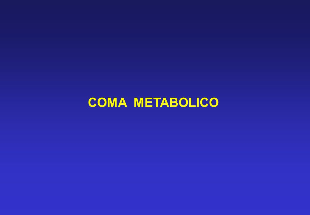 COMA METABOLICO