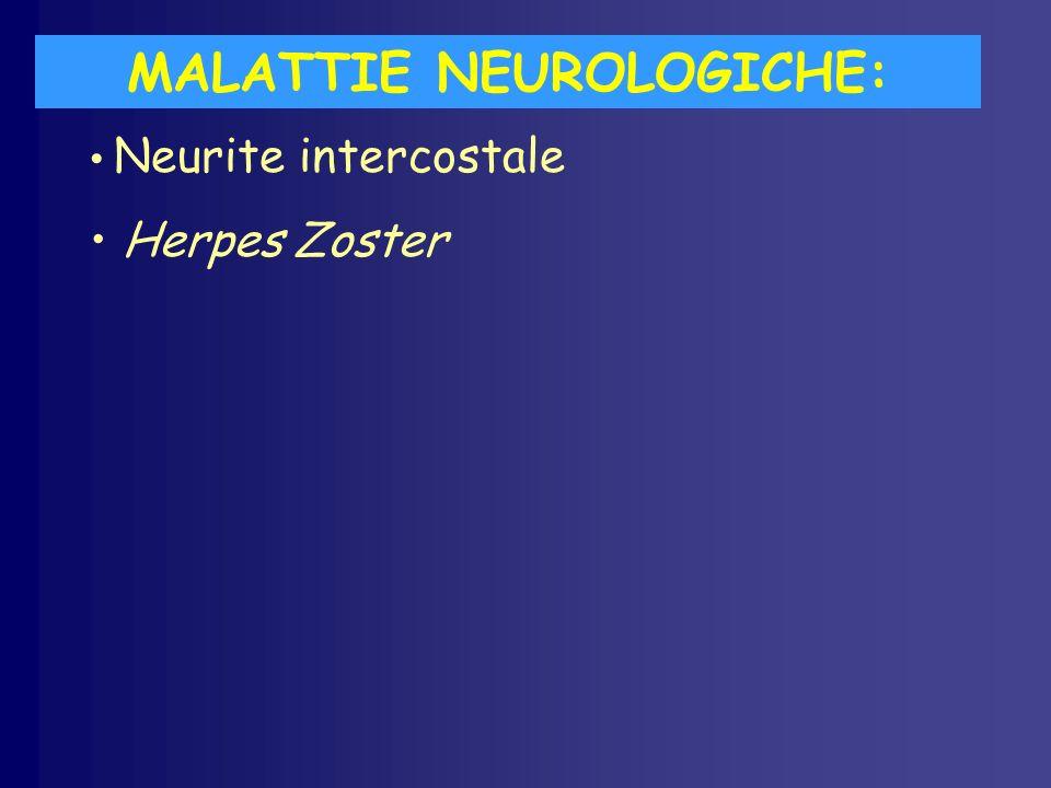 MALATTIE NEUROLOGICHE: Neurite intercostale Herpes Zoster