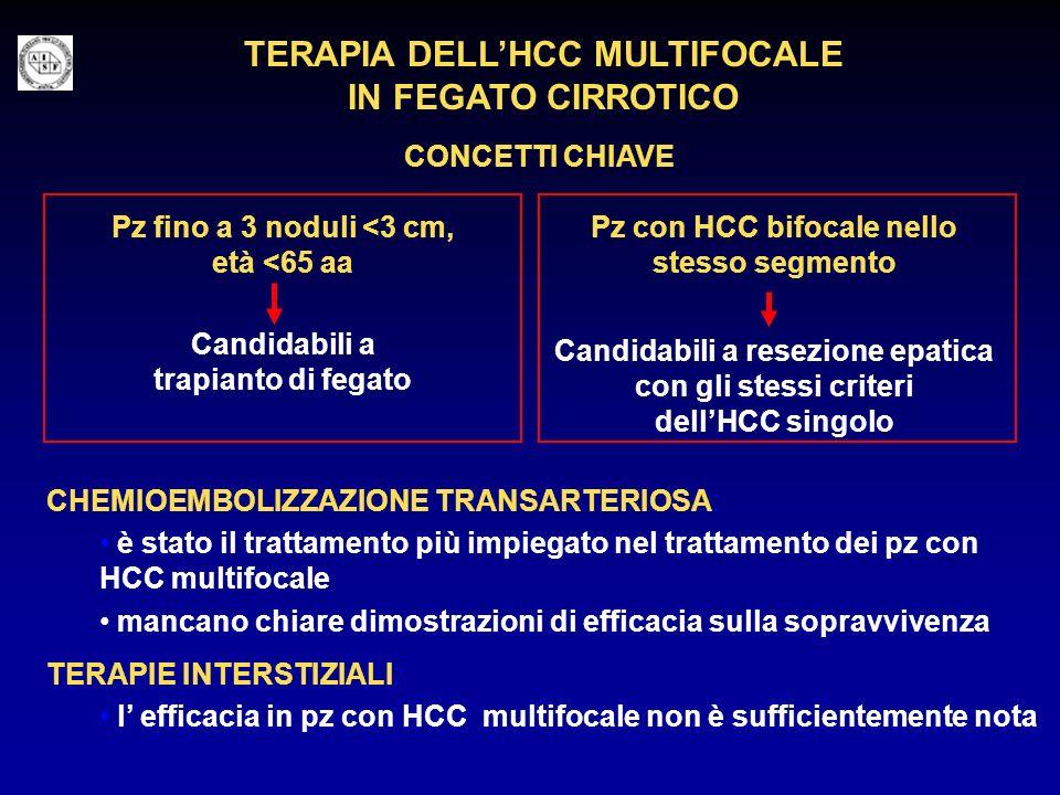 TERAPIA DELLHCC MULTIFOCALE IN FEGATO CIRROTICO CONCETTI CHIAVE Pz con HCC bifocale nello stesso segmento Candidabili a resezione epatica con gli stes