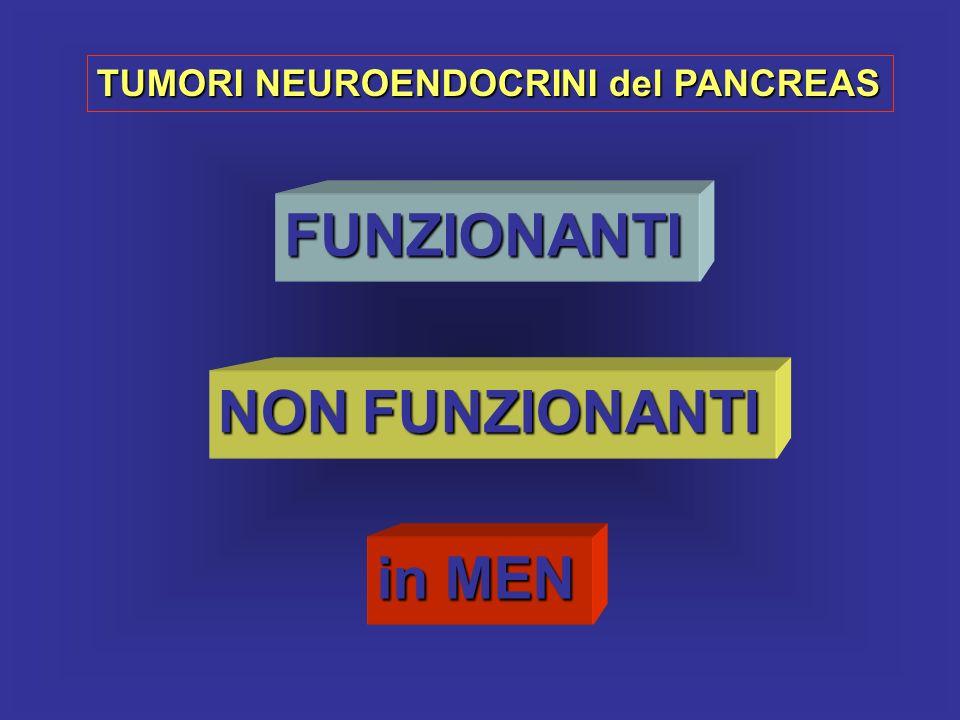 TUMORI NEUROENDOCRINI del PANCREAS FUNZIONANTI NON FUNZIONANTI in MEN