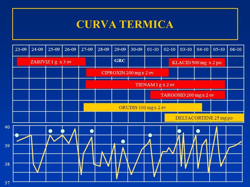 CURVA TERMICA 23-0924-0925-0926-0927-0928-0929-0930-0901-1002-1003-1004-1005-1006-10 GRC ZARIVIZ 1 g x 3 ev CIPROXIN 200 mg x 2 ev TIENAM 1 g x 2 ev O