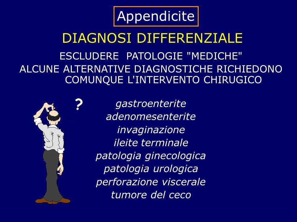 DIAGNOSI DIFFERENZIALE ESCLUDERE PATOLOGIE