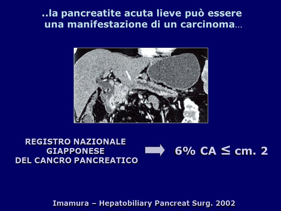 Imamura – Hepatobiliary Pancreat Surg. 2002 REGISTRO NAZIONALE GIAPPONESE DEL CANCRO PANCREATICO REGISTRO NAZIONALE GIAPPONESE DEL CANCRO PANCREATICO