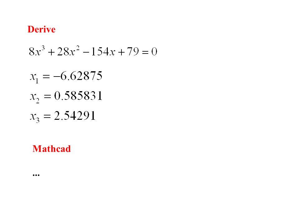 Derive Mathcad...