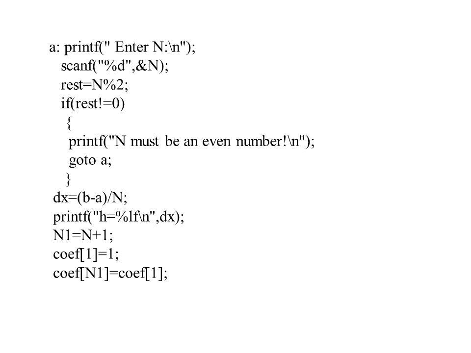 a: printf(