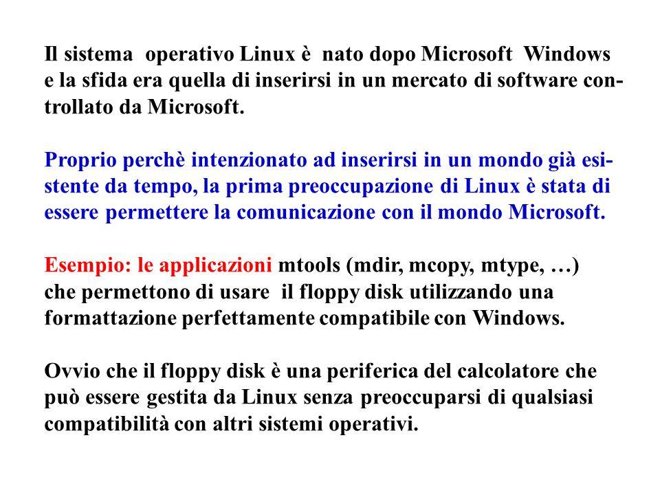 Il sistema operativo Linux è nato dopo Microsoft Windows e la sfida era quella di inserirsi in un mercato di software con- trollato da Microsoft.