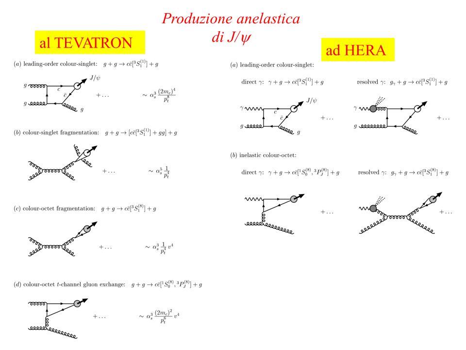Produzione anelastica di J/ al TEVATRON ad HERA