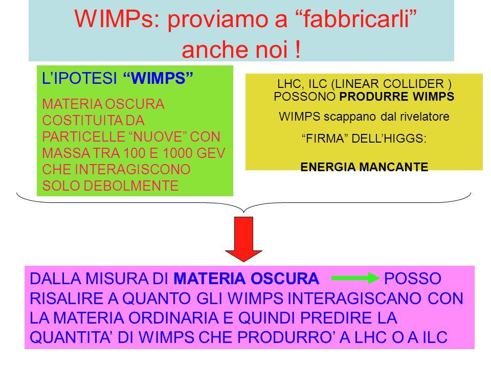 WIMPs: proviamo a fabbricarli anche noi .