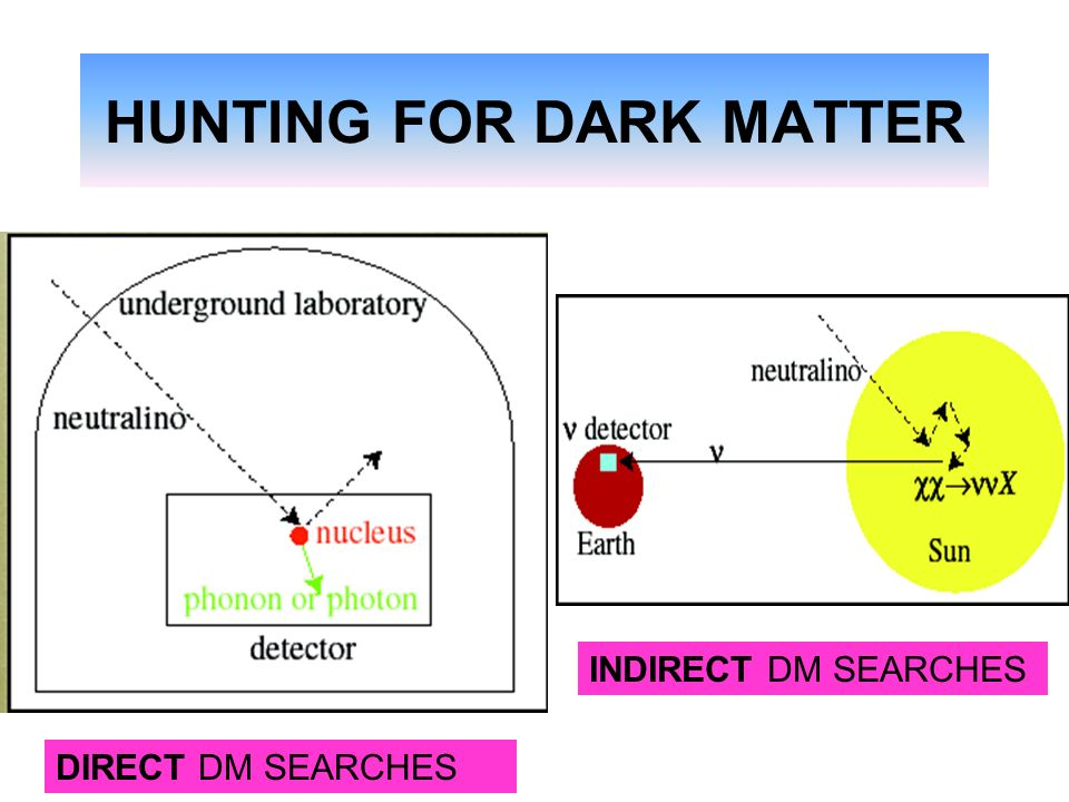 HUNTING FOR DARK MATTER DIRECT DM SEARCHES INDIRECT DM SEARCHES