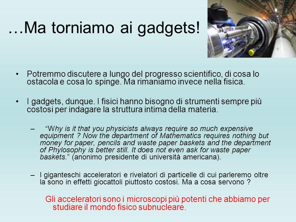 …Ma torniamo ai gadgets.